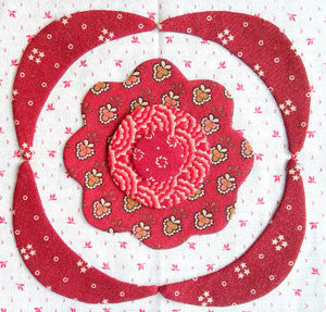 Simply Red Quilt Pattern BOM | Rossette Block Ten