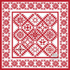 Simply Red Quilt Pattern BOM Jester Kisses Block