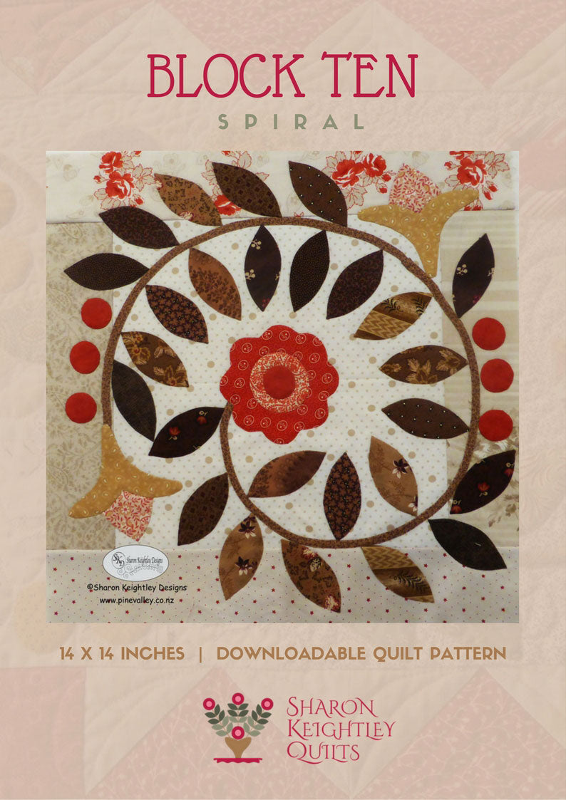 Winterwood Quilt Pattern BOM | Spiral | Block Ten - Pine Valley Quilts