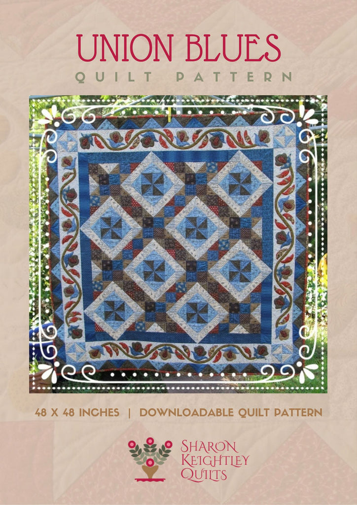Union Blues Quilt | Sharon Keightley Designs
