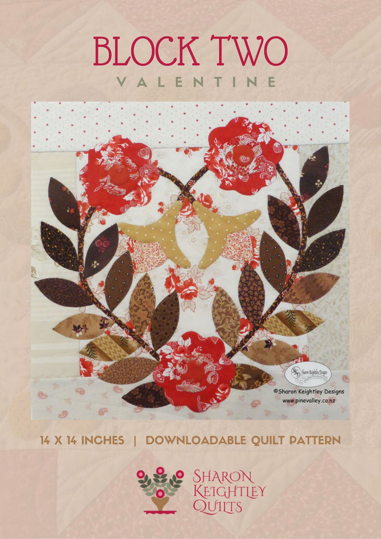 Winterwood Quilt Pattern BOM Block Two - Pine Valley Quilts