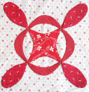 Simply Red Quilt BOM Block Two - Pine Valley Quilts