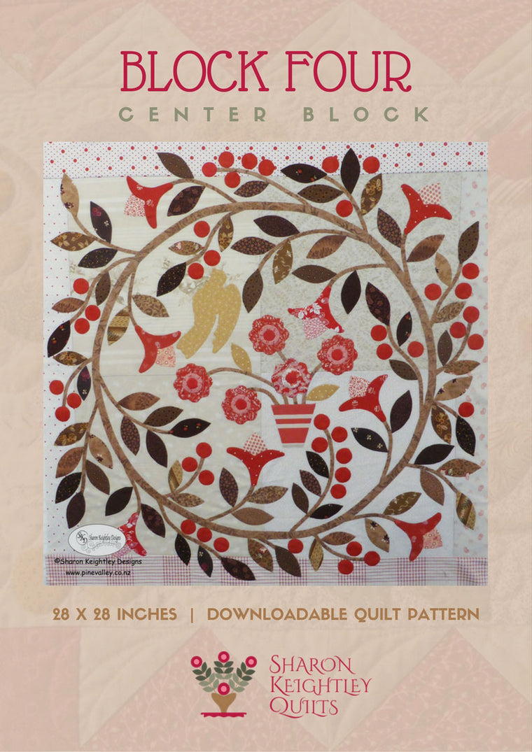 Winterwood Quilt Pattern BOM Center Block Pattern - Pine Valley Quilts
