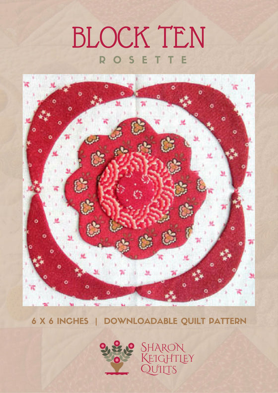 Simply Red Quilt Pattern BOM  Block Ten - Pine Valley Quilts