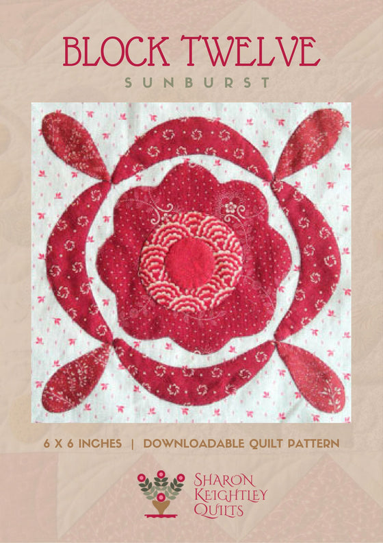 Simply Red Quilt Pattern BOM Block Twelve - Pine Valley Quilts
