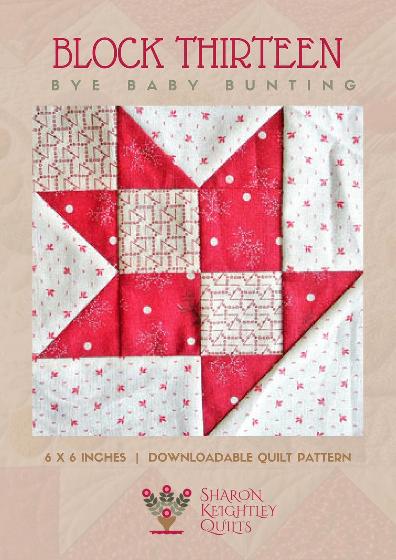 Simply Red Quilt Pattern BOM  Block Thirteen - Pine Valley Quilts