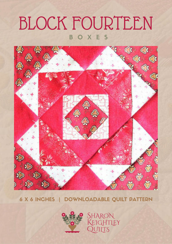 Simply Red Quilt Pattern BOM  Block Fourteen - Pine Valley Quilts