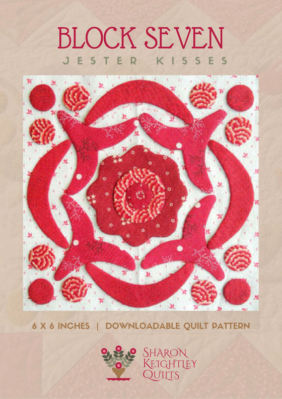 Simply Red Quilt Pattern BOM Block Seven - Pine Valley Quilts