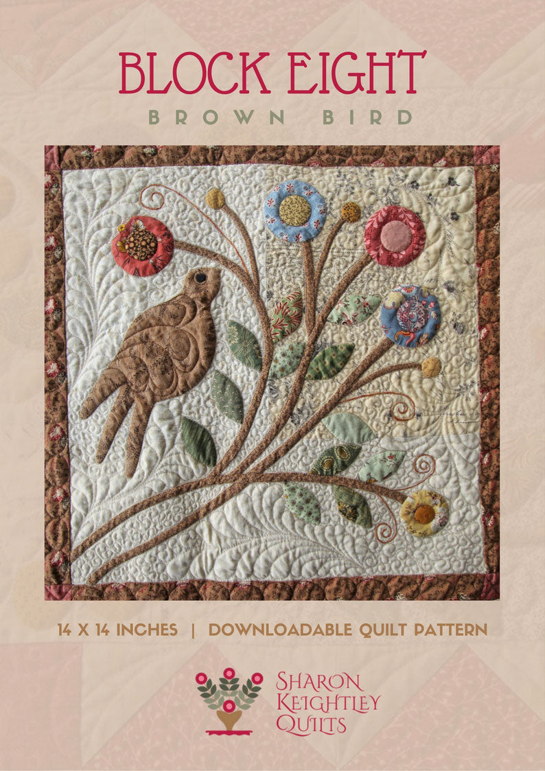 Brown Birds Fancy - Pine Valley Quilts