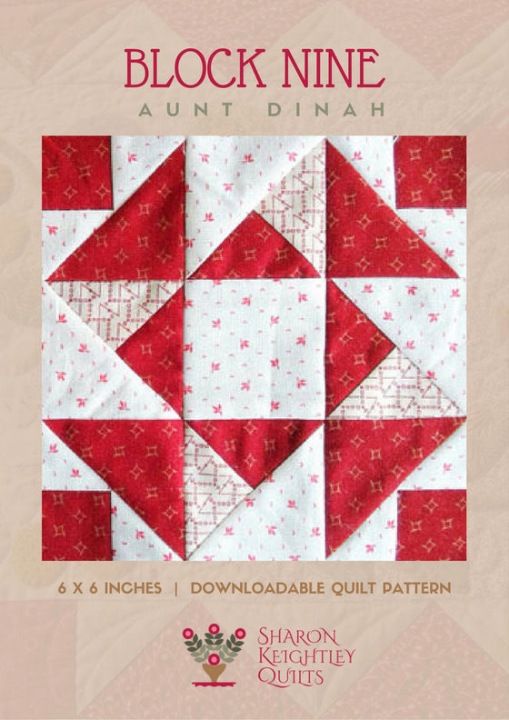 Simply Red Quilt BOM Block Nine - Pine Valley Quilts