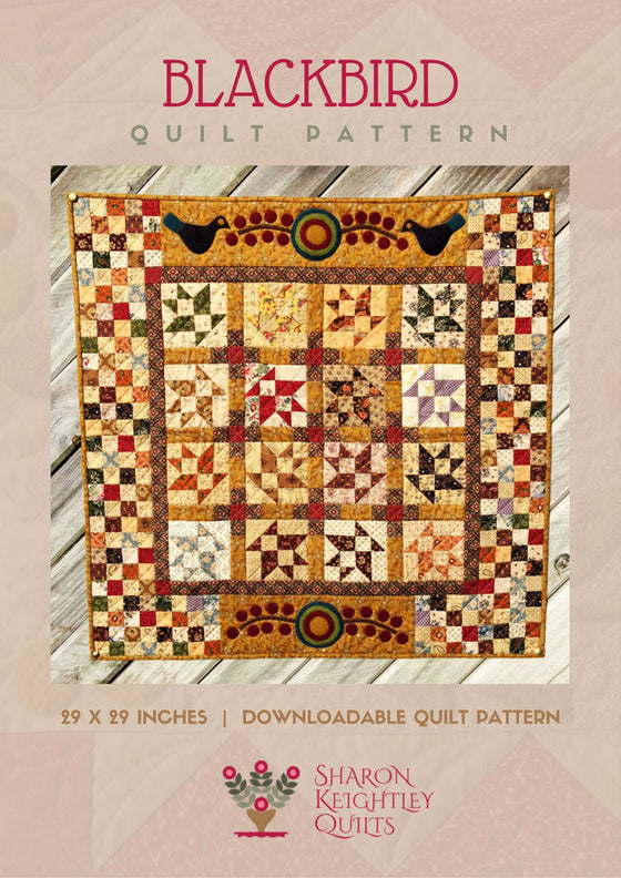 Blackbirds and Berries Quilt Pattern - Pine Valley Quilts