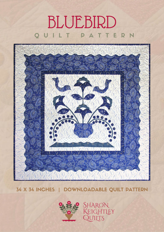 Birds in a Bluebird Tree Quilt Pattern - Pine Valley Quilts
