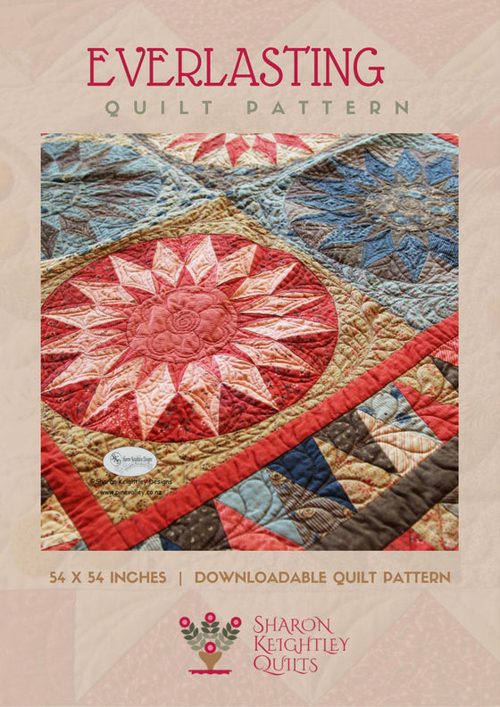 Everlasting Sunburst Quilt Pattern - Pine Valley Quilts