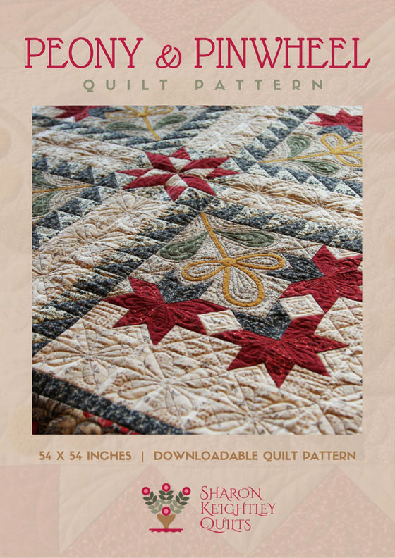 Peonies and Pinwheels Quilt Pattern | Sharon Keightley Quilts