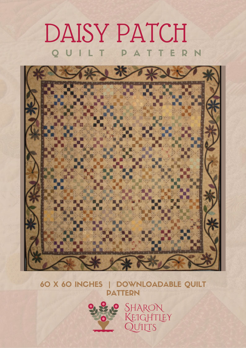 Daisy Patch Quilt Pattern - Pine Valley Quilts
