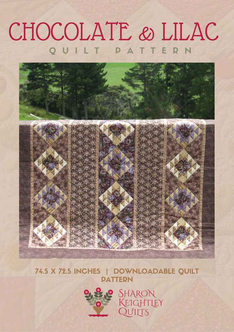 Chocolate and Lilac Quilt | Sharon Keightley Quilts