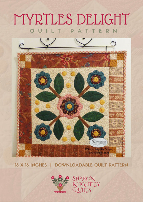 Myrtles Delight Quilt | Sharon Keightley Quilts