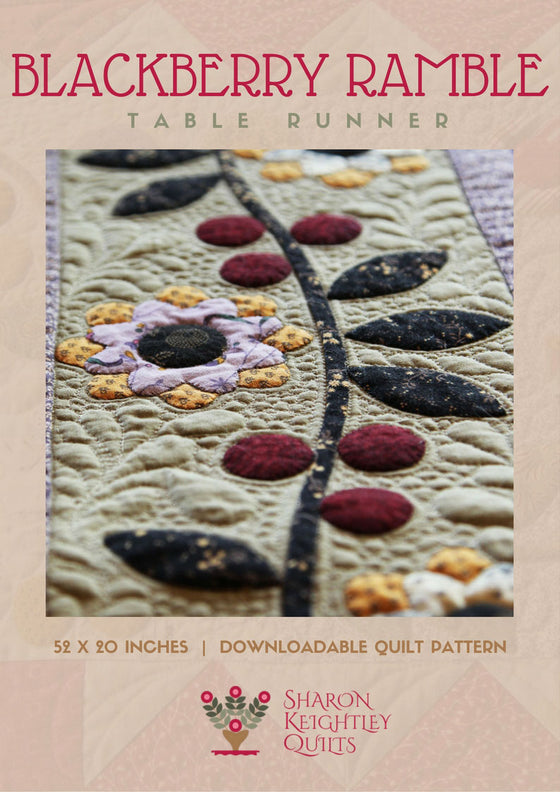Blackberry Ramble Table Runner Pattern - Pine Valley Quilts