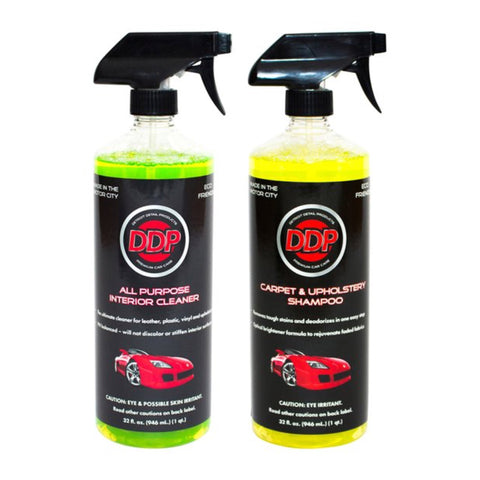 Detroit Detail Products Chemical Kit- All Purpose Interior Cleaner, Carpet and Upholstery Shampoo