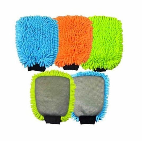 2 N 1 Microfiber Chenille Wash Mitt   Detroit Detail Products