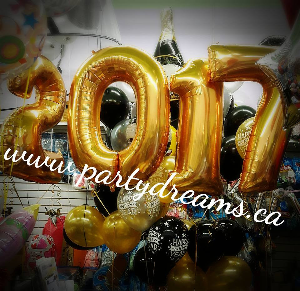 Balloon Decorations for New Year Eve Celebration!