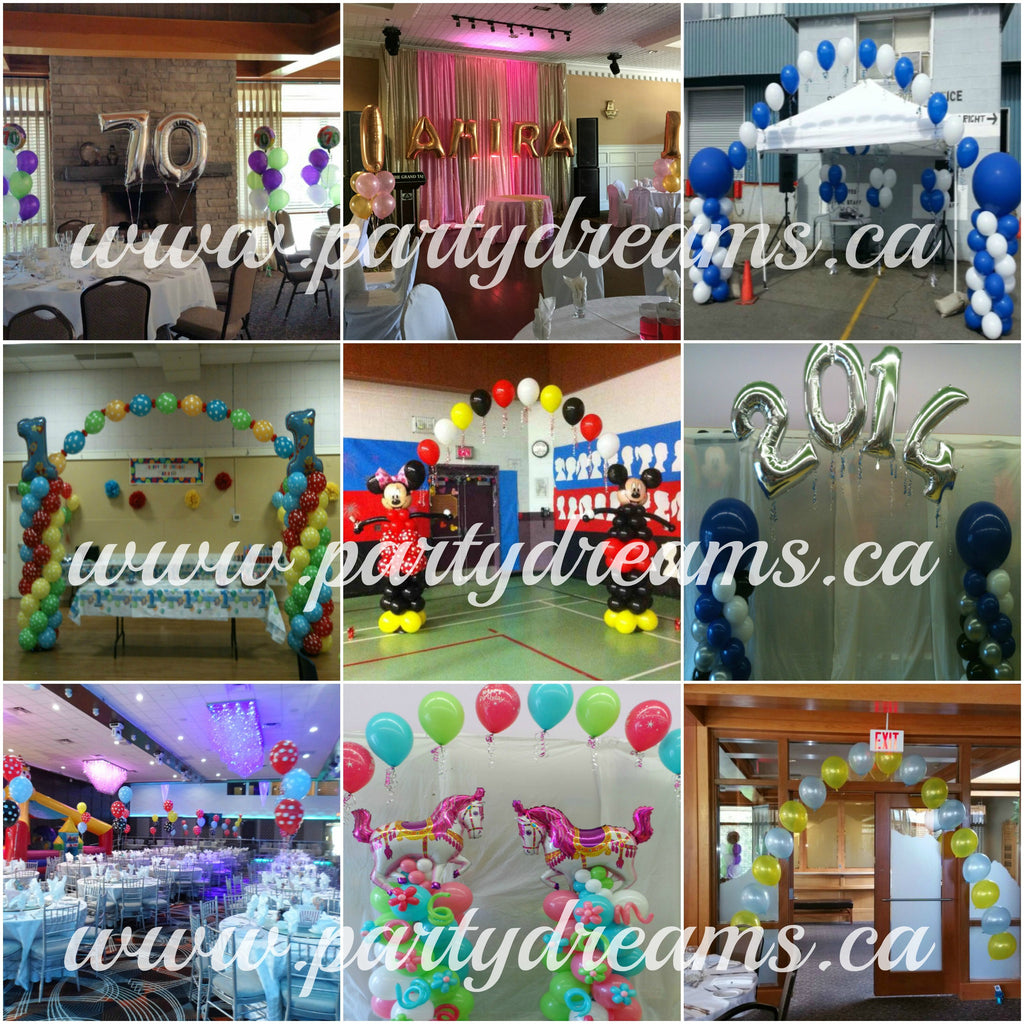 On Site Balloon Decor Setup Service - Vancouver BC