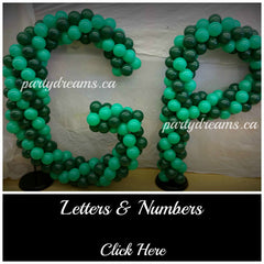 Balloon Letters Numbers Surrey Vancouver