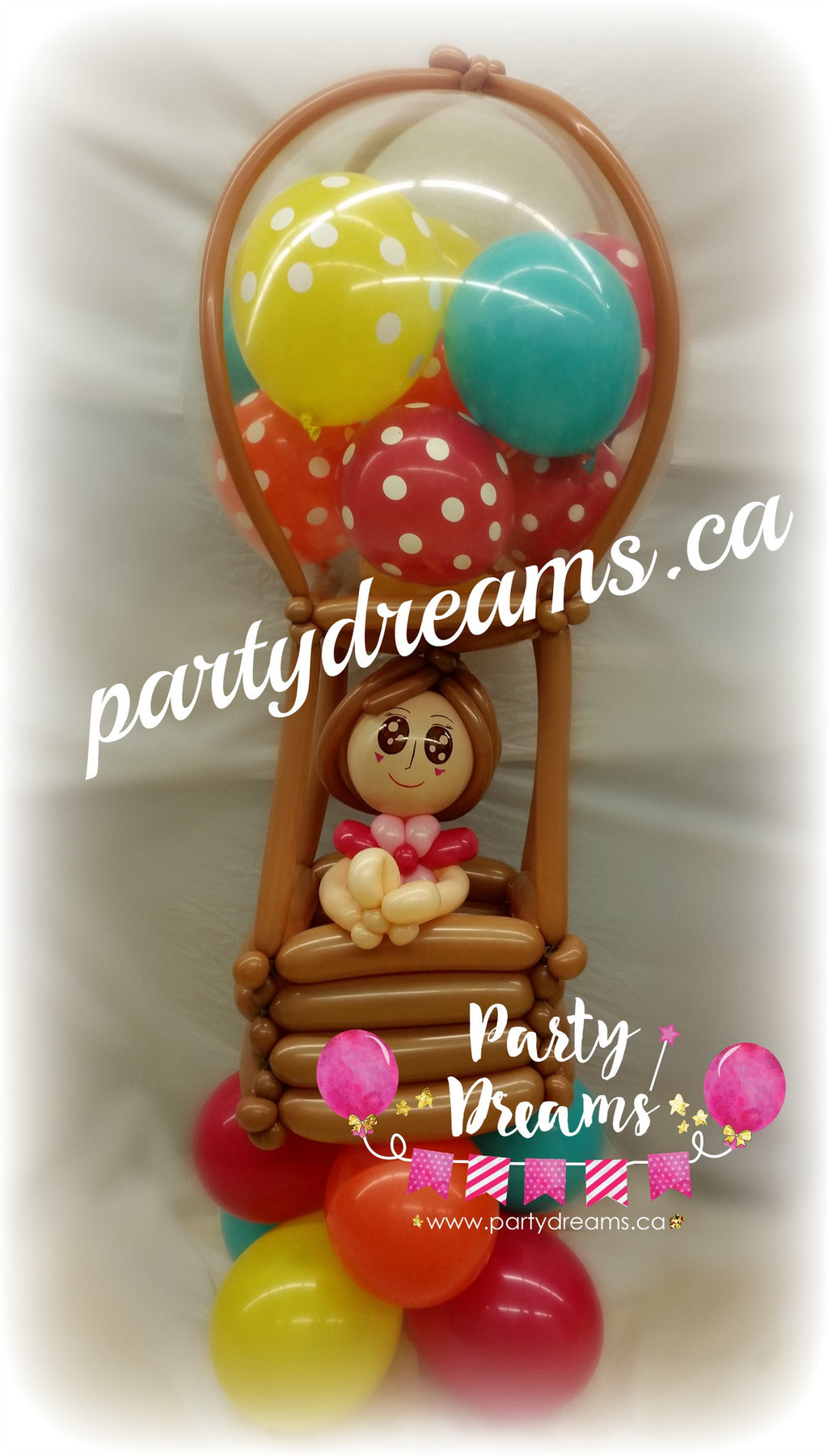 Balloon Sculpture - Hot Air Balloon Girl (Medium) #BP34