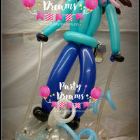 Balloon Sculpture - Skiing Girl (Medium) #BP5