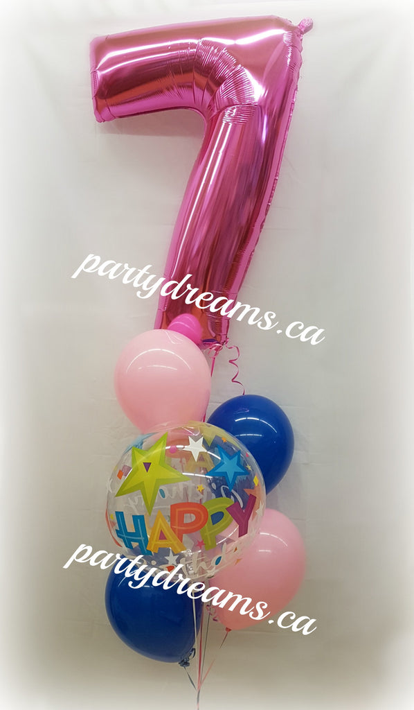 Age Number Birthday Balloon Bouquet #JNB01