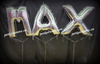 Giant Letter Birthday Balloon Bouquet - 3 Letters Set #JNB84