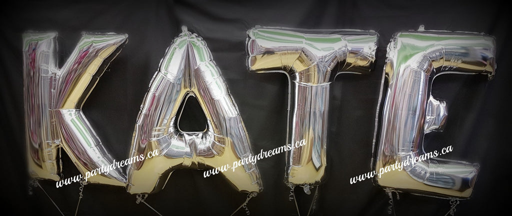 Giant Letter Birthday Balloon Bouquet - 4 Letters Set #JNB86