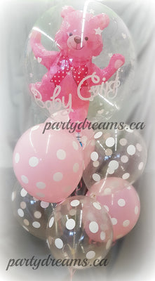 Baby Girl Bubble Balloon Bouquet #BB25