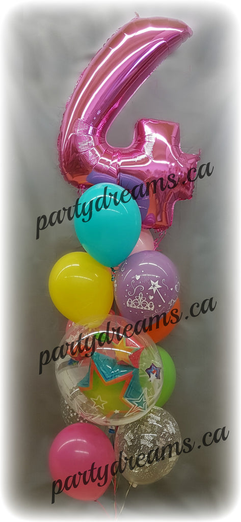 Giant Number Birthday Balloon Bouquet #JNB04