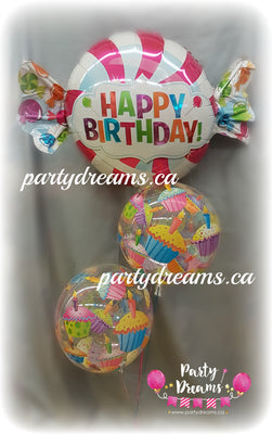 Candy Birthday Balloon Bouquet #GBB03