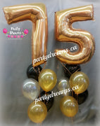 Giant Number Birthday Balloon Bouquets Set #JNB80