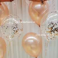 Jumbo Number with Confetti Balloon Bouquet Set #JC01