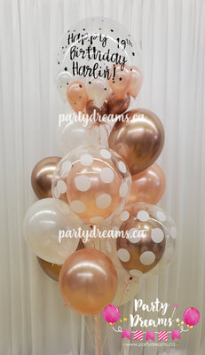 Customized Vinyl Bespoke Bubble Balloon Bouquet #BA05