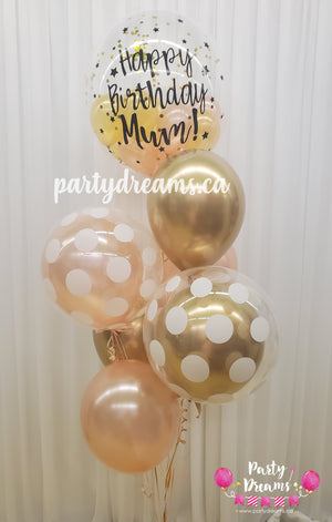 Customized Vinyl Bespoke Bubble Balloon Bouquet #BA03