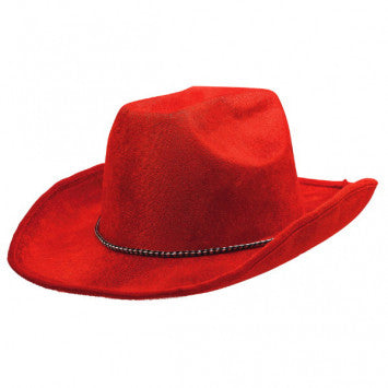 Red Velour Cowboy Hat