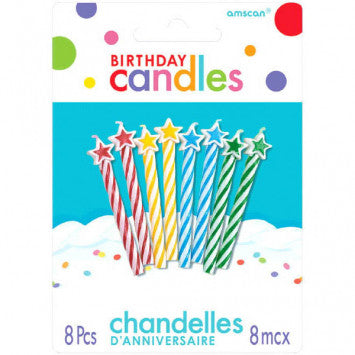 Assorted with Stars Spiral Candles