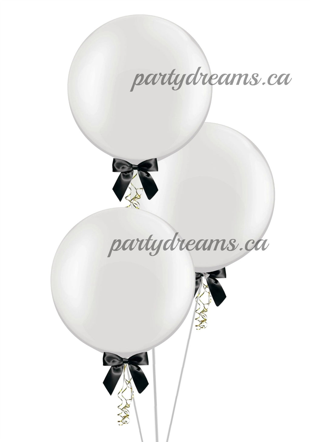 "3 of  24"" Round Balloons Bouquet"