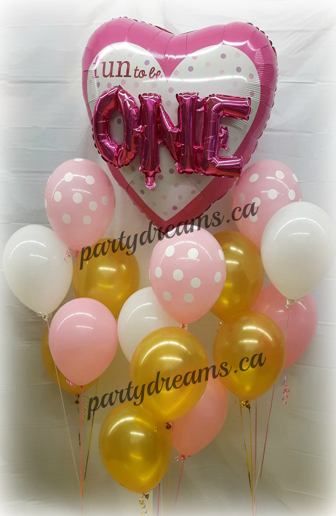 First Birthday Balloon Bouquet Set #FB8