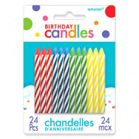 Birthday Candle Spiral Assortment - Primary