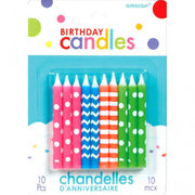 Birthday Candles Asst. - Neon