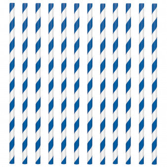 Paper Straws, Low Count - Bright Royal Blue