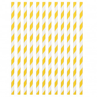 Paper Straws, Low Count - Yellow Sunshine