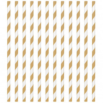 Paper Straws, Low Count - Gold