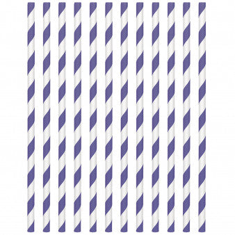 Paper Straws, Low Count - New Purple