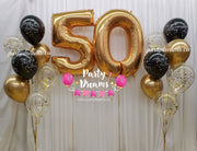 Jumbo Number Birthday Confetti Balloon Bouquet Set #81